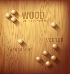 Wood texture realistic and circle designs ball vector