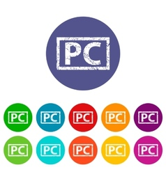 Pc flat icon vector