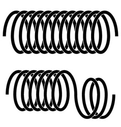 Tension spring black symbols vector