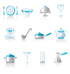 Kitchen utensil icons vector