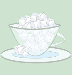 Sugar cubes vector