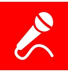 Microphone sign vector