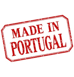 Portugal - made in red vintage isolated label vector