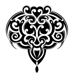 Maori tattoo shape vector