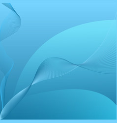 Abstract blue curved string background vector
