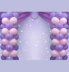 birthday background with party balloons vector image