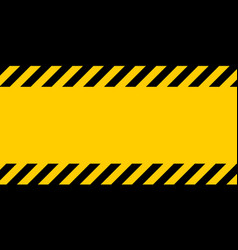 black and yellow warning line striped background vector image vector image
