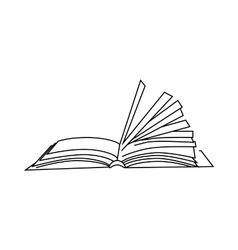 Book with turn over pages icon outline style vector image vector image