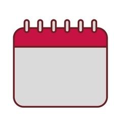 Calendar date valentine day celebration vector