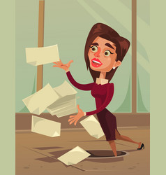Careless inattentive business woman office worker vector
