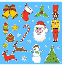 Cartoon Christmas elements vector image