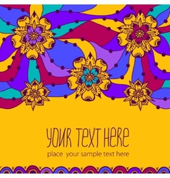 Colorful greeting card with flowers vector image vector image