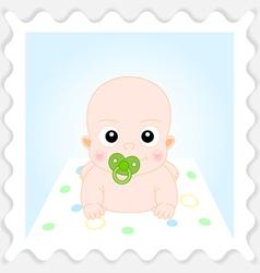 Cute Cartoon Baby Boy vector image vector image