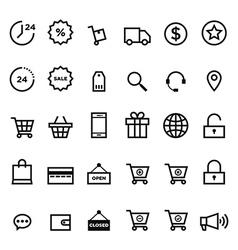 E-commerce outline icon set vector image vector image