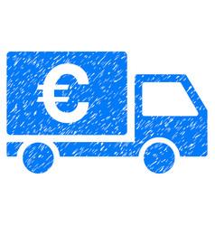 Euro shipment grunge icon vector