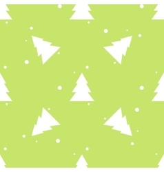 Forest fir tree and snow green seamless pattern vector image vector image