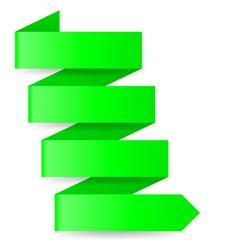 Green paper arrow vector image vector image