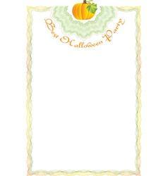 Halloween certificate vector