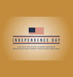 Happy independence day banner style collection vector