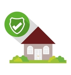Home security policy guard button shadow vector