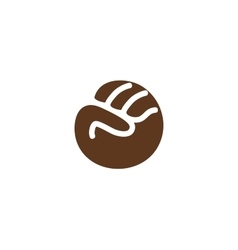 Isolated abstract brown color fist logo Human vector image vector image