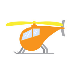 isolated helicopter toy vector image vector image