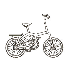 little orange children s bicycle bicycles for vector image vector image