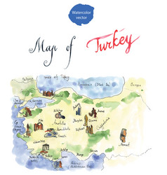 map of attraction of turkey vector image vector image