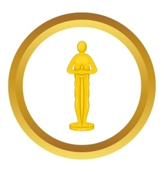Movie award icon vector