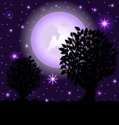 Night scene2 vector