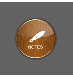 Notes application icons vector
