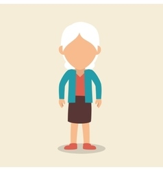 old woman character avatar icon vector image vector image