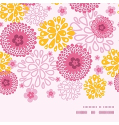 Pink field flowers horizontal frame seamless vector