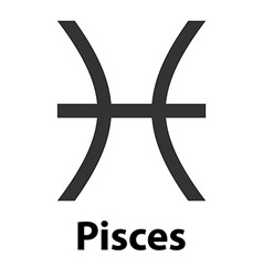 Pisces fish zodiac sign icon vector