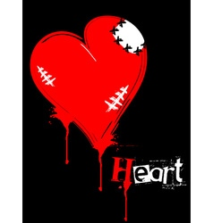 Red wounded heart vector