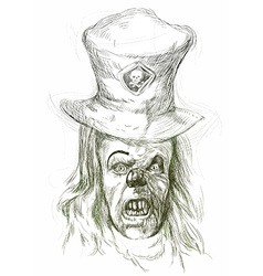 Spooky clown vector