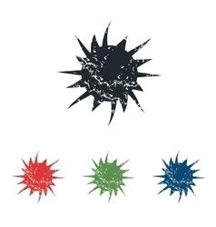 Starburst grunge icon set vector