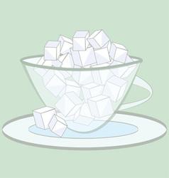 Sugar cubes vector