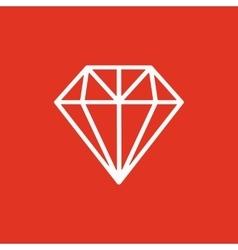 The diamond icon Jewel symbol Flat vector image