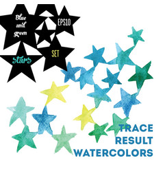 Watercolor stars vector
