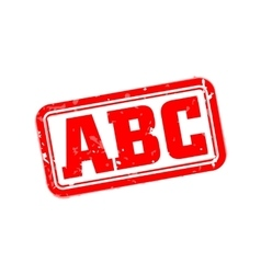 Abc rubber stamp vector
