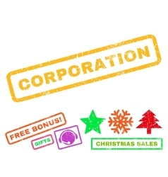Corporation rubber stamp vector