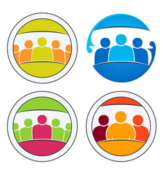 Community of people together vector