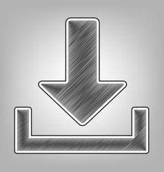Download sign   pencil sketch vector