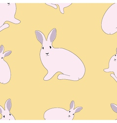 Seamless of rabbit vector