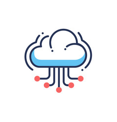Web site cloud hosting - modern line icon vector