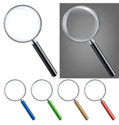 Magnifying glass big set vector