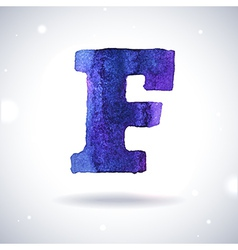 Watercolor letter f vector