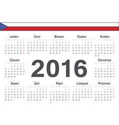 Circle czech 2016 year calendar vector