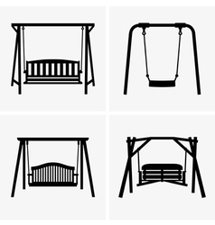 Porch swing vector image